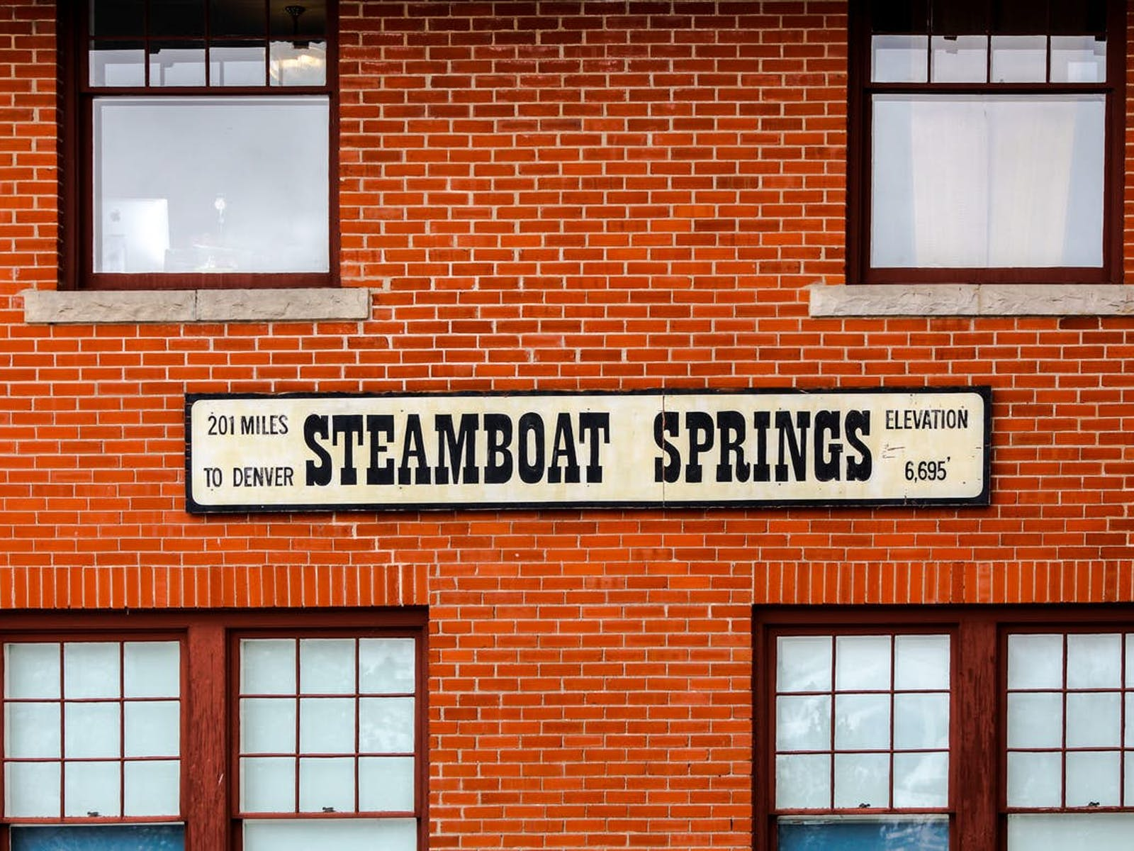 Steamboat Springs in Colorado
