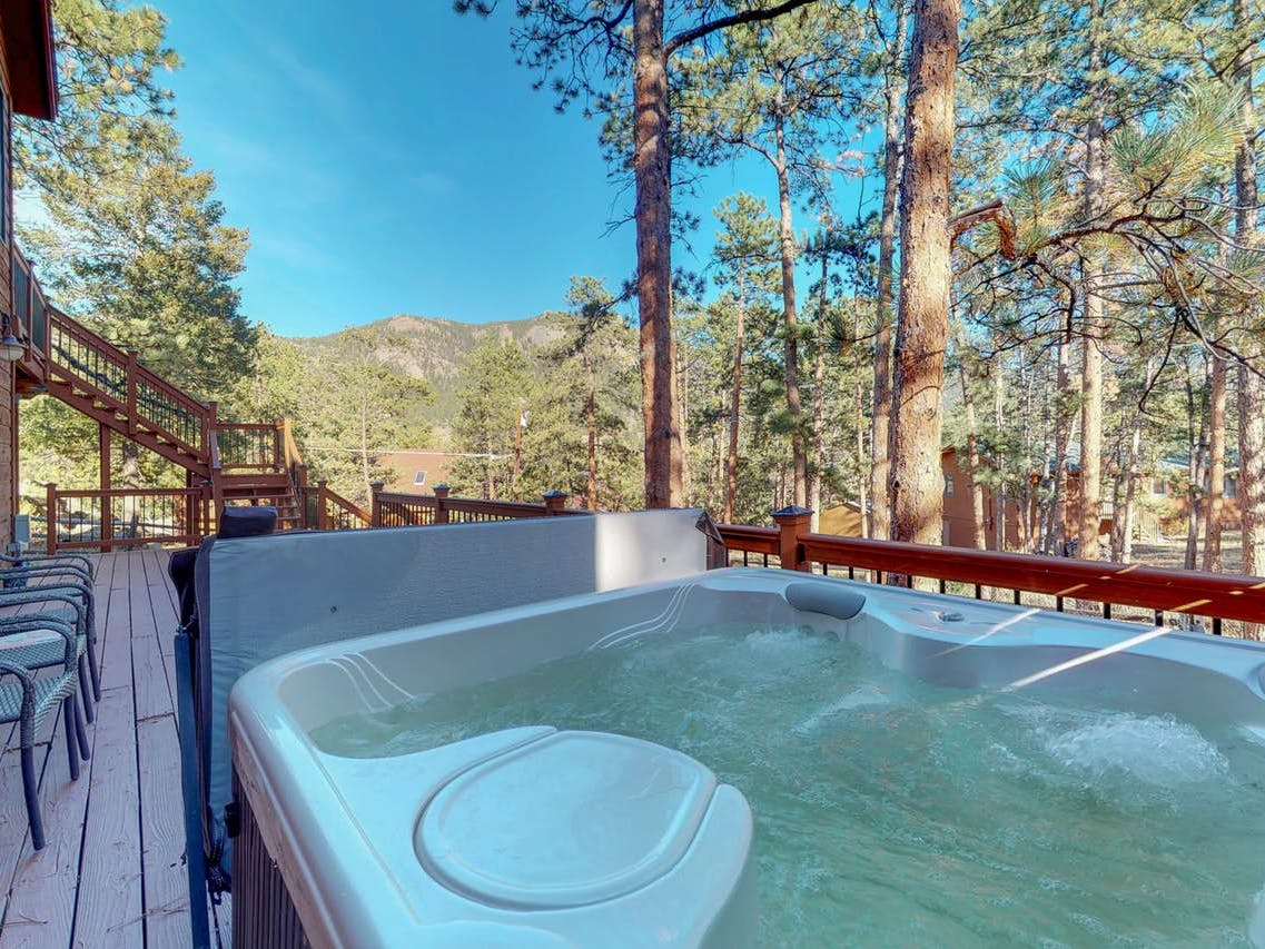 Heavenly Pines Retreat vacation rental in Estes Park with private hot tub