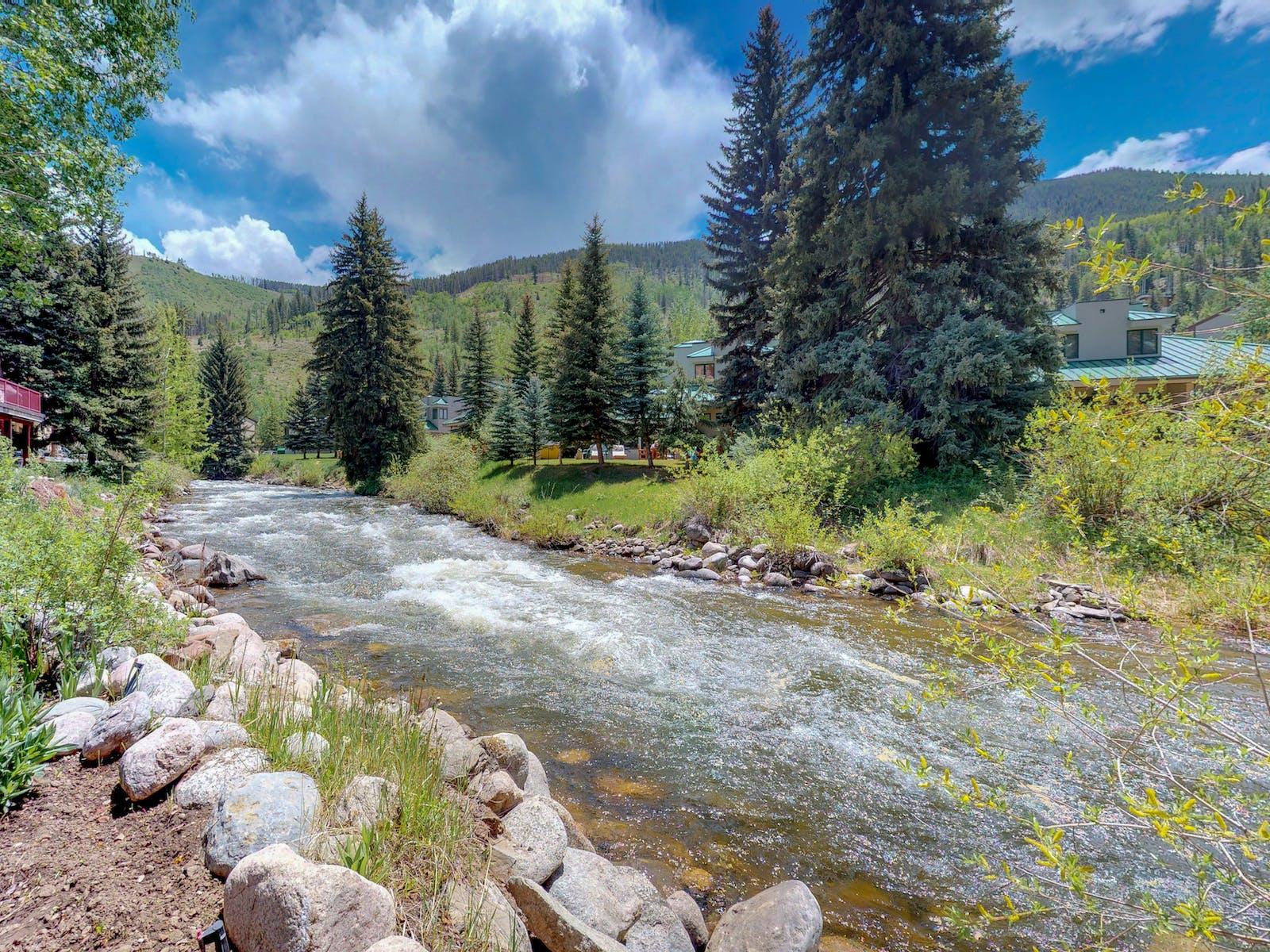 Beautiful Gore Creek in Vail, Colorado