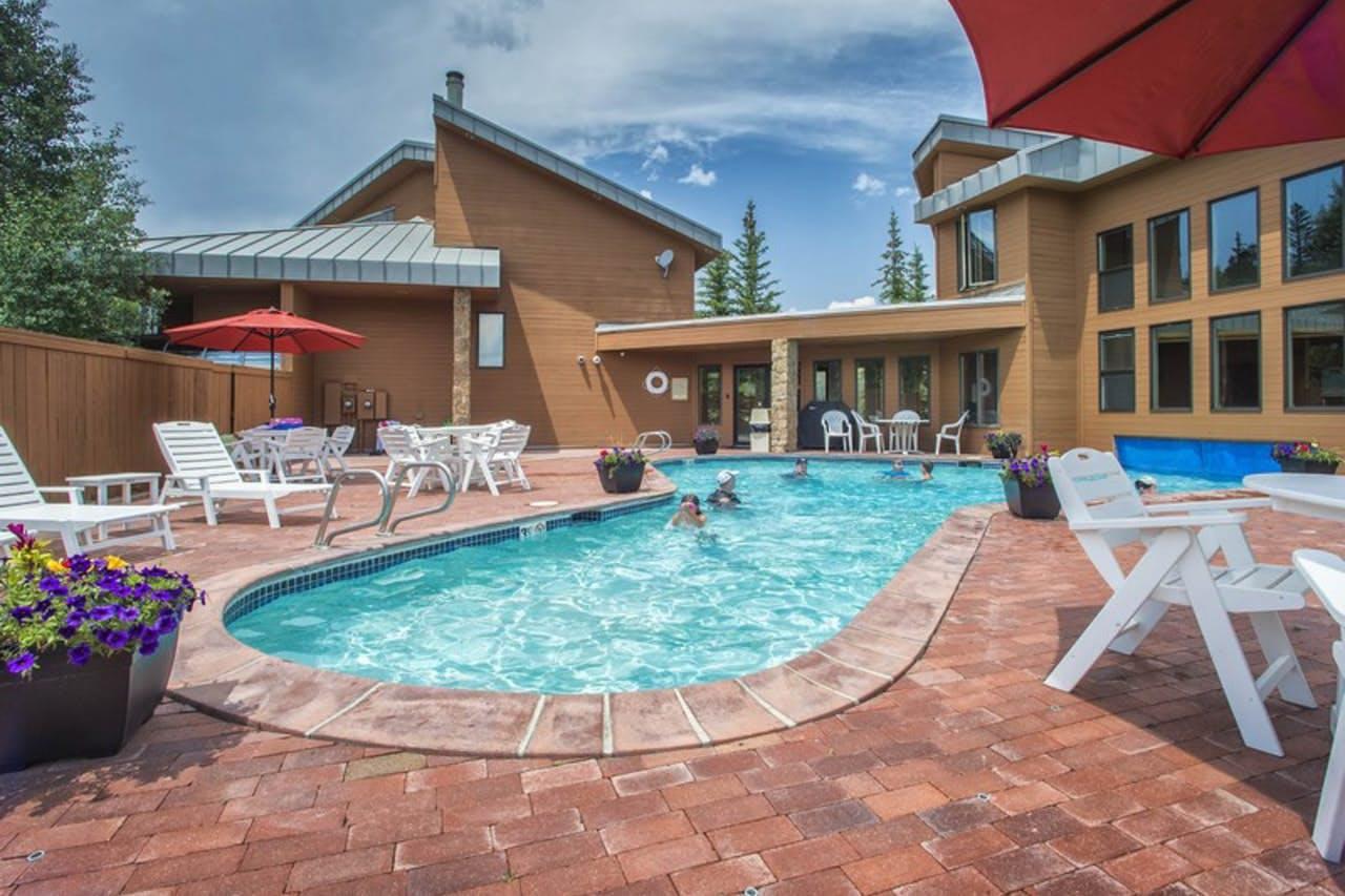 Community pool located in Dillon, CO's Summerwood neighborhood