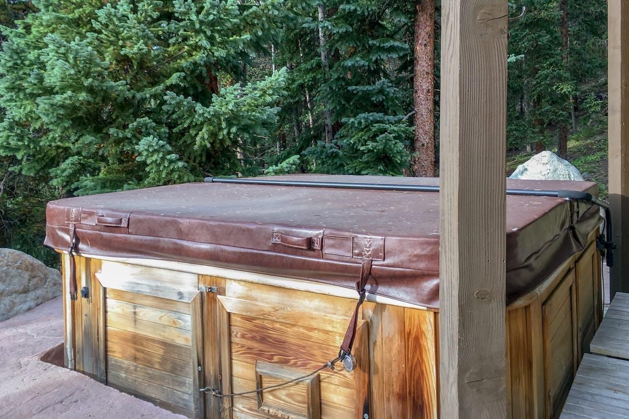 Private hot tub at The Wagon Road Lodge in Breckenridge, CO