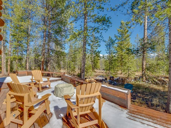 Fraser, CO vacation rental with amazing backyard views, deck and firepit