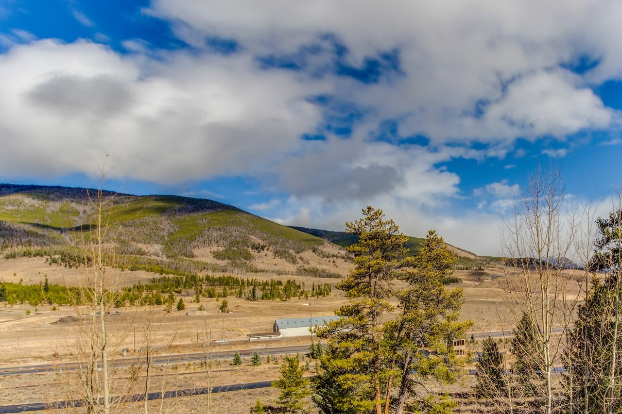 View of Dillon, CO countryside from inside this Vacasa vacation rental