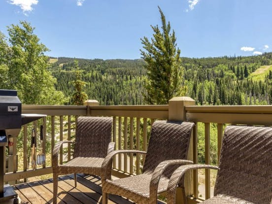 Deck with grill overlooking the beauty of Keystone, CO