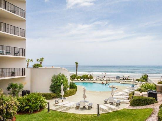 Oceanfront outdoor pool in Daytona Beach, FL
