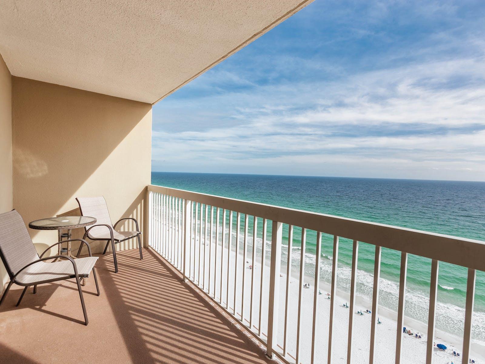 balcony of destin, fl vacation condo