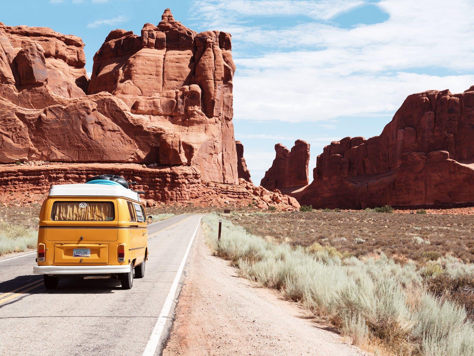 Van road trip through the southwest