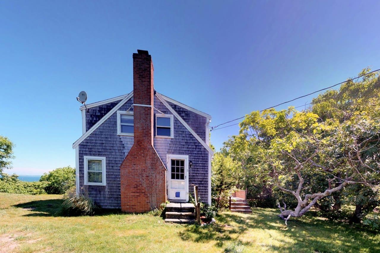 Exterior of Martha's Vineyard vacation rental featuring brick chimney