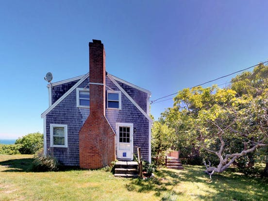 Exterior of Martha's Vineyard vacation rental featuring brick chimney