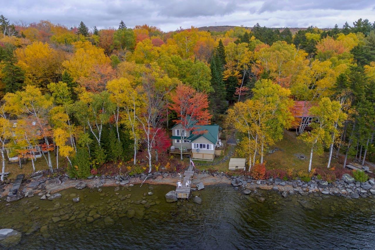 Waterfront vacation rental located at Moosehead Lake