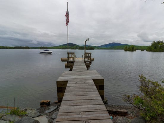 Dock of Moosehead Lake vacation cabin