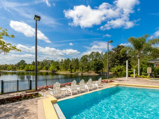 Caribe Cove Resort pool in Kissimmee, FL
