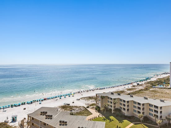 view of beach from SunDestin Beach Resort
