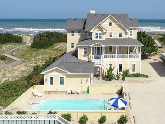 Beach house with private pool in the Outer Banks