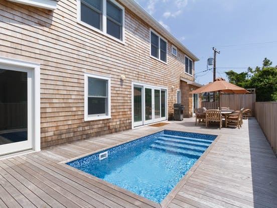 Outdoor pool of Fire Island, NY vacation home