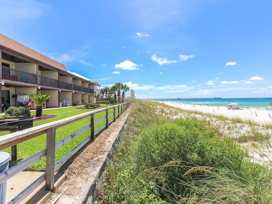 Beach and ocean view from Fort Walton Beach, FL vacation rental