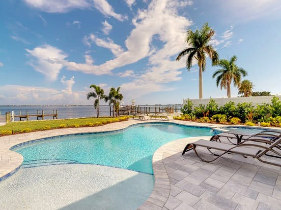 Private, heated pool of Holmes Beach, FL vacation rental