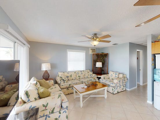 Light and airy interior of Little Torch Retreat located in Little Torch Key, Florida
