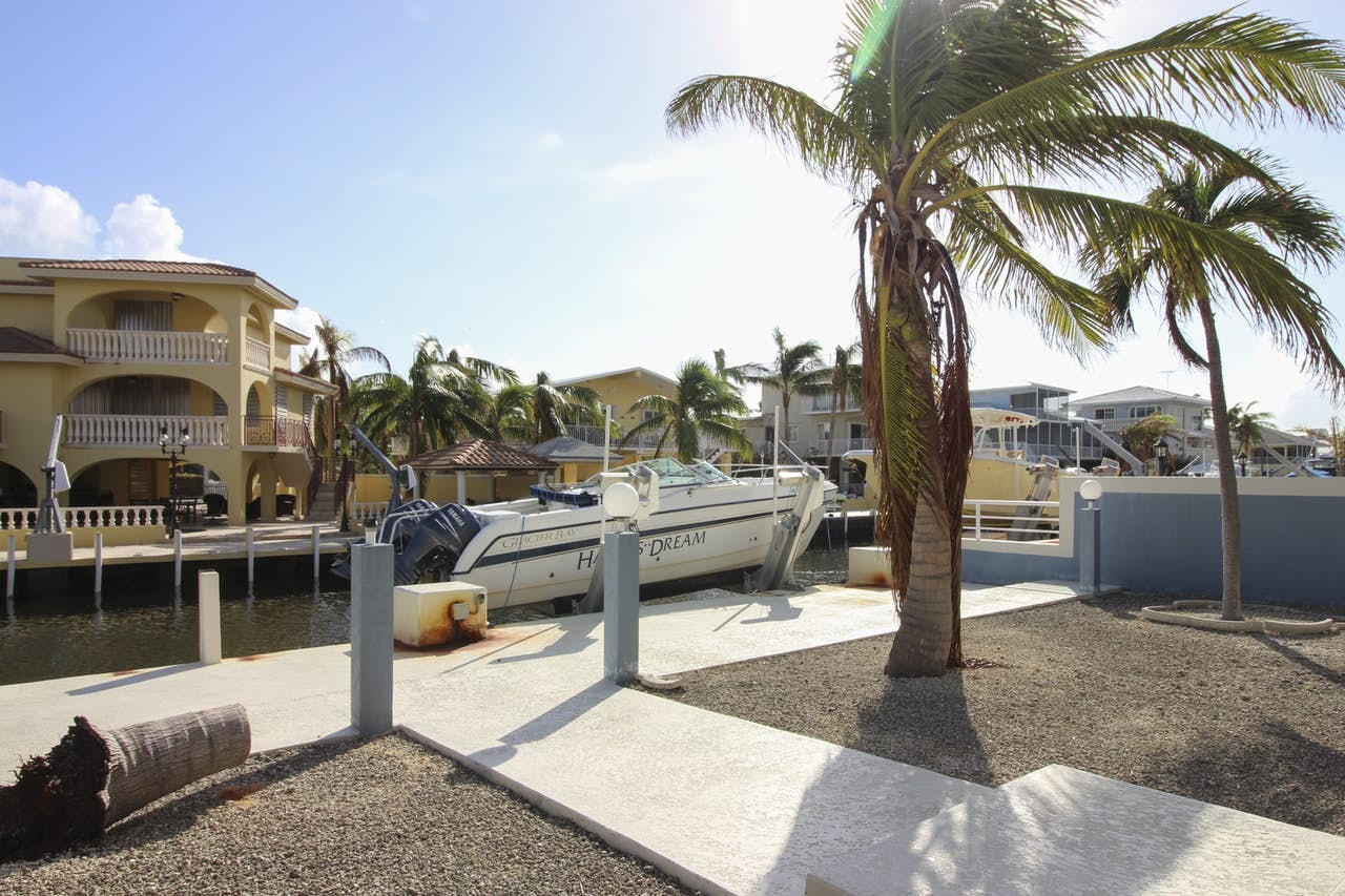 Key Largo vacation rental featuring easy dock access right on the inlet
