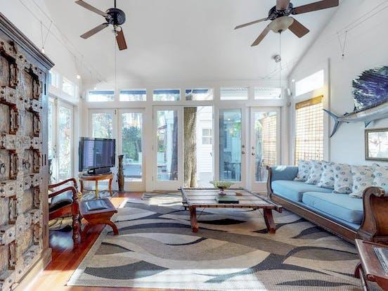 Villa Azul vacation rental living room in Key West, FL