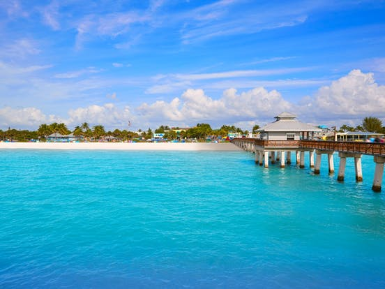 beautiful blue waters of Fort Myers, FL