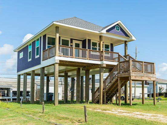 Purple Galveston beach house rental