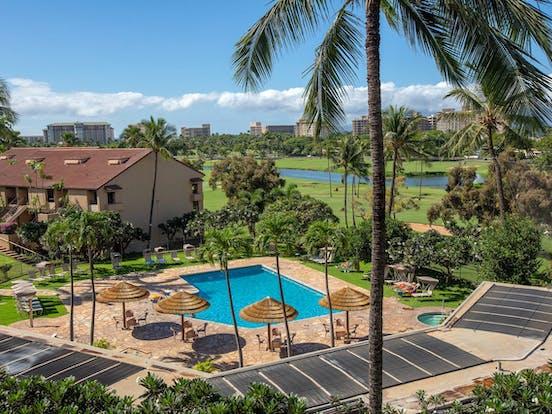 View of Kaanapali Golf Course fairway from Kaanapali Royal Resort