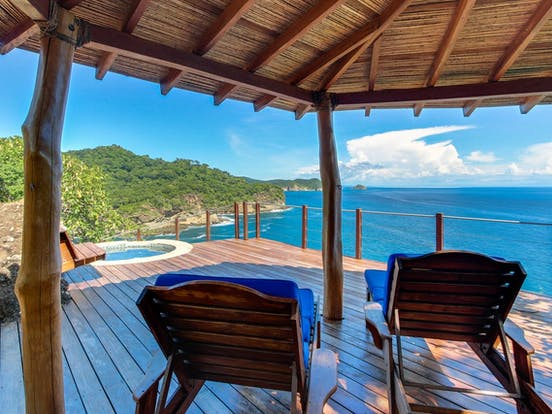 Nicaragua vacation rental with ocean views, deck and hot tub
