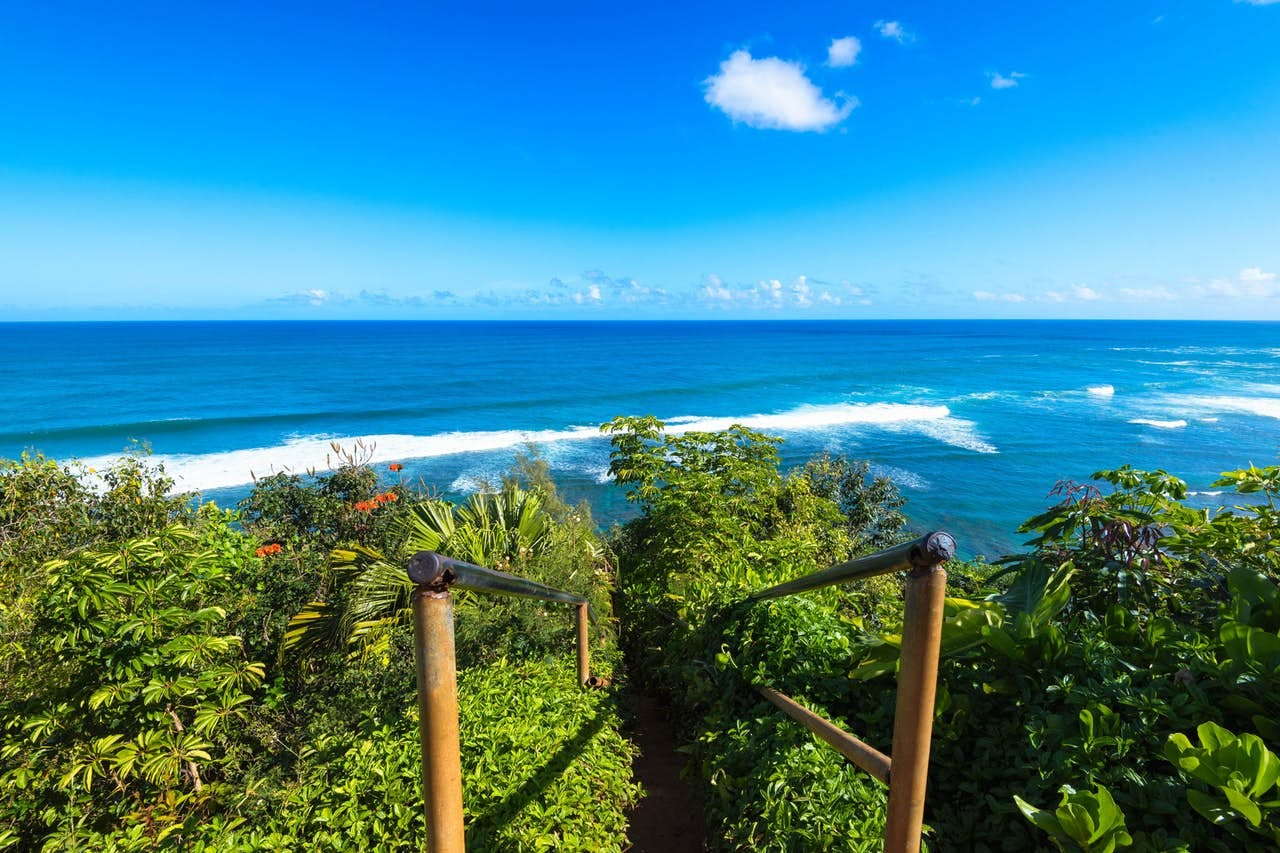 Beautiful view of the Pacific Ocean from Hawaii