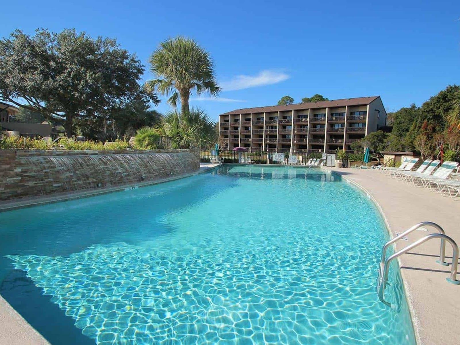 resort pool located in hilton head