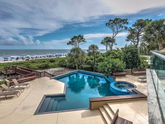 Hilton Head vacation home with private pool, spa, and oceanfront views