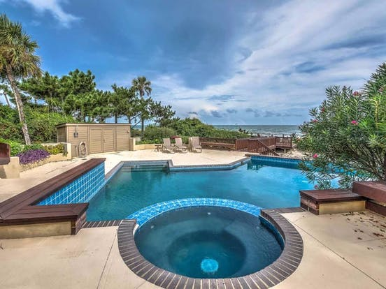 Outdoor pool located in Hilton Head, SC