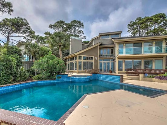 Hilton Head vacation rental with beautiful outdoor pool
