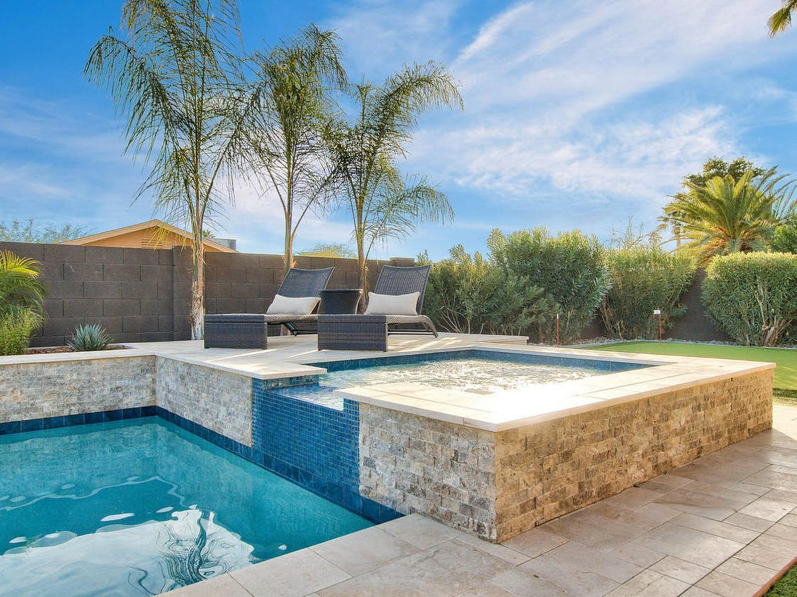 Private hot tub of vacation rental