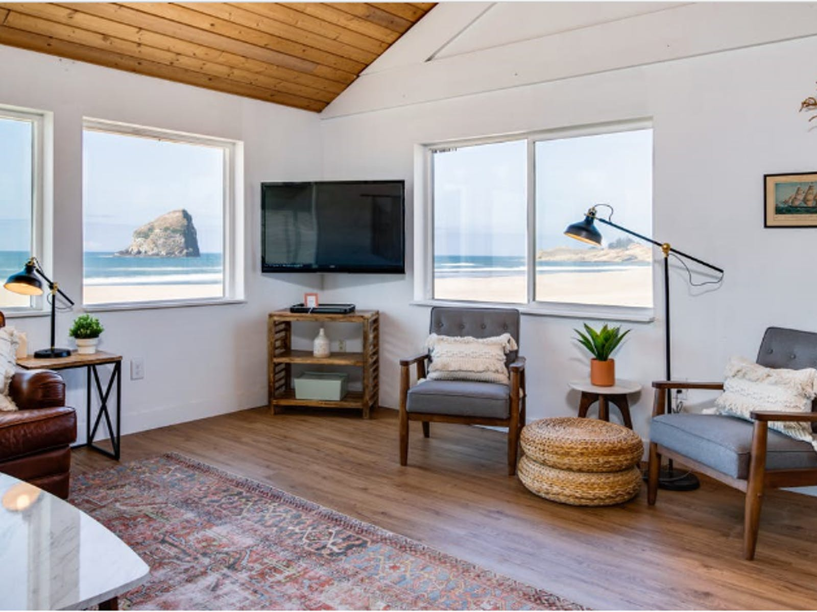 Pacific City, OR vacation rental with a view of Haystack Rock
