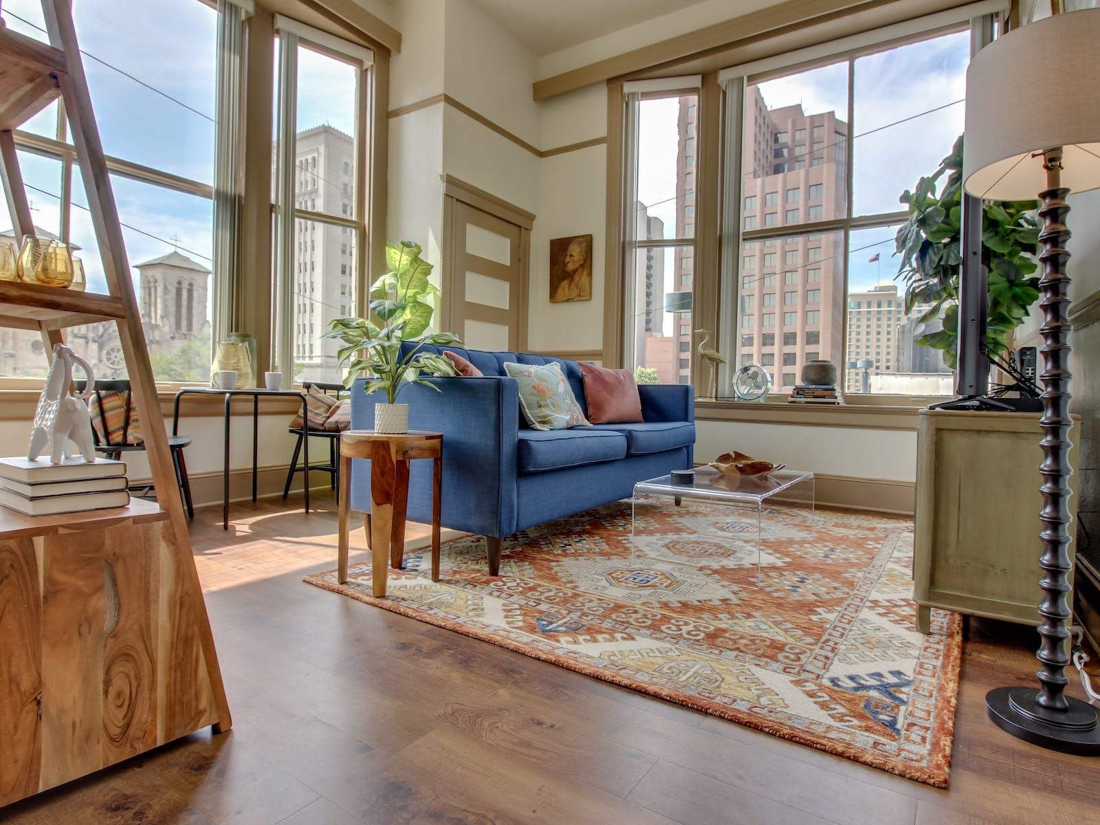 Living room of San Antonio, TX vacation rental