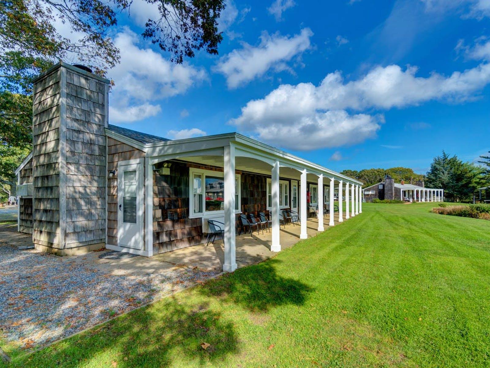 Island Inn buildings as well as expansive lawn