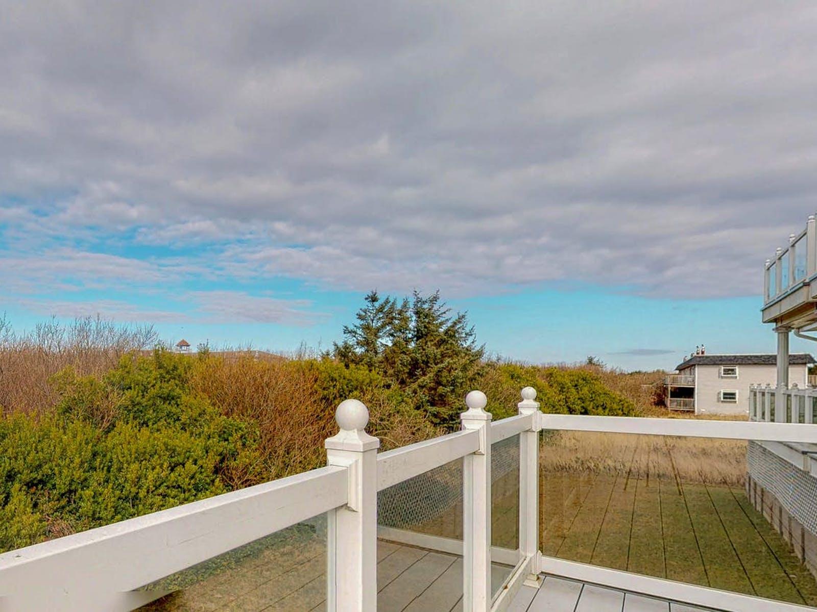 View from balcony of Judith Ann Inn