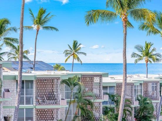 Ocean view from Kailua Kona vacation rental