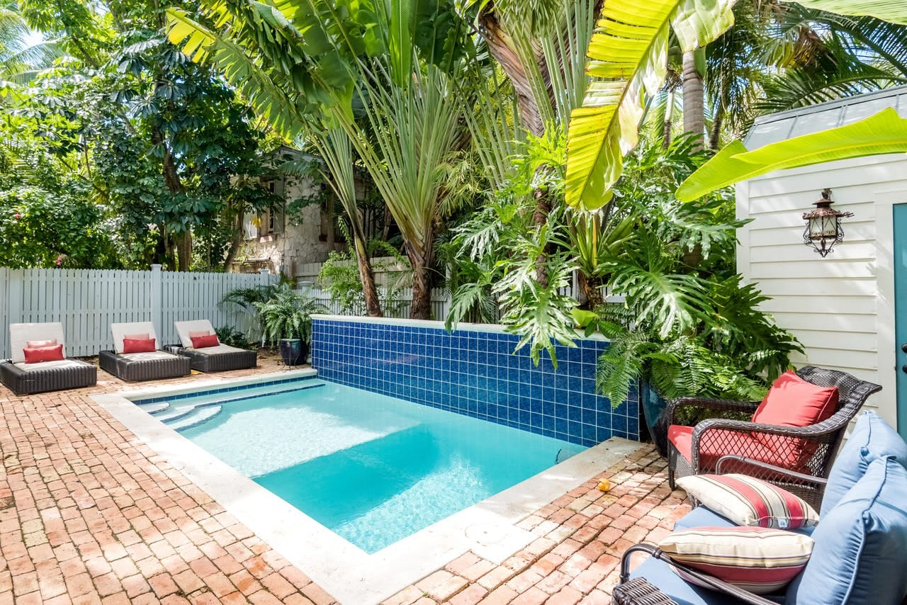 a private pool at a key west vacation home