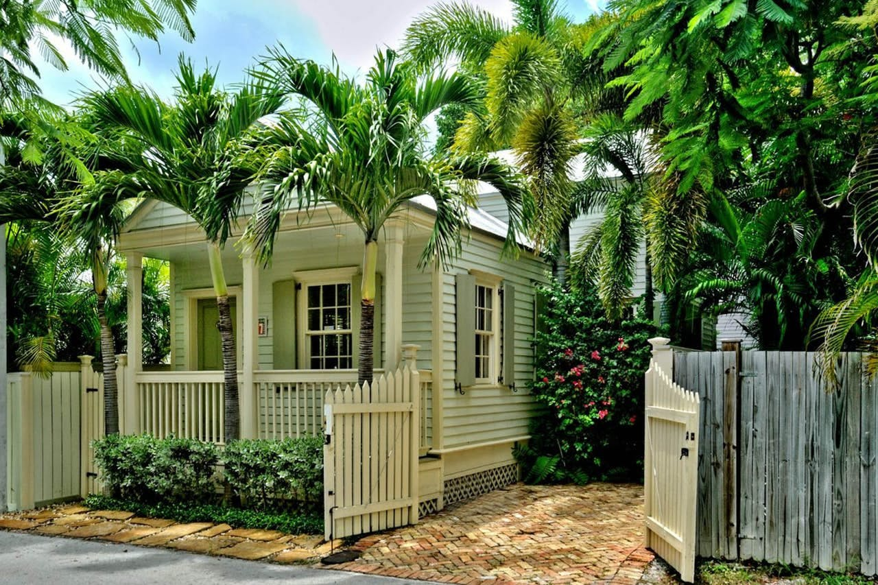 the exterior view of a key west cottage