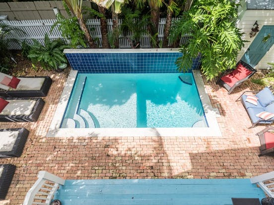 A private pool at a Key West cottage rental