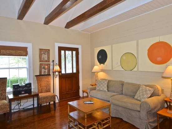 Interior of Key West vacation cottage