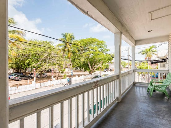 Street view from front porch of Key West vacation cottage