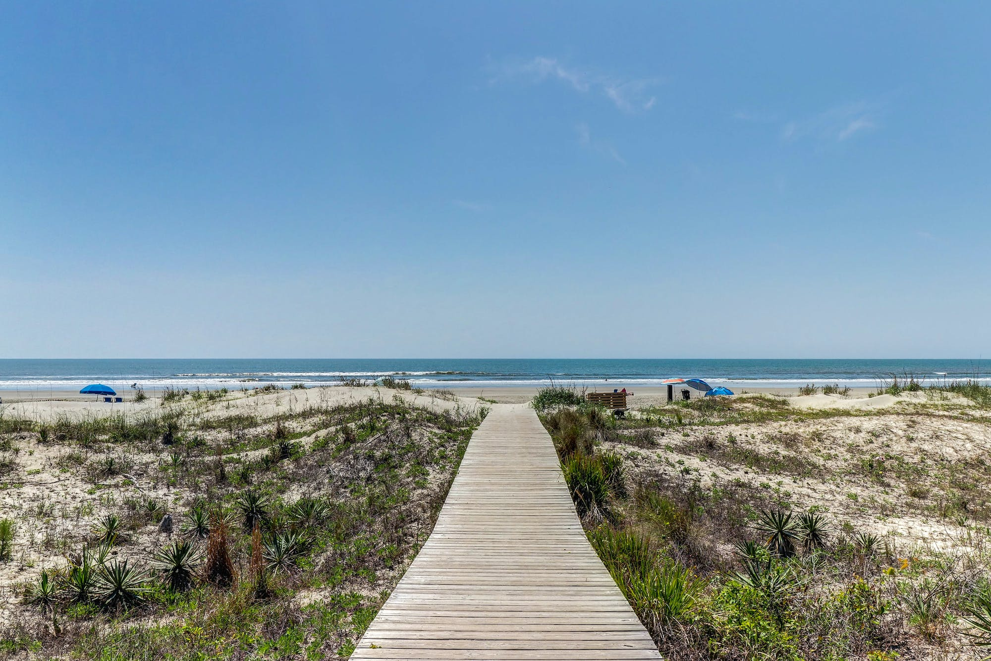 Boardwalk leading to the beach in Kiawah Island, South Carolina