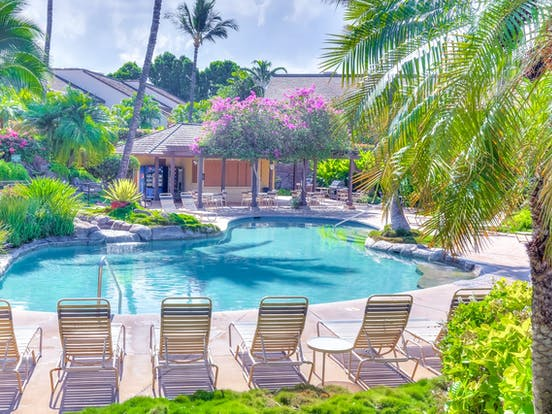 outdoor pool in Kihei, HI resort