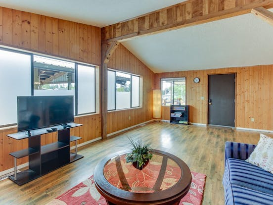 Living area of vacation rental in La Push