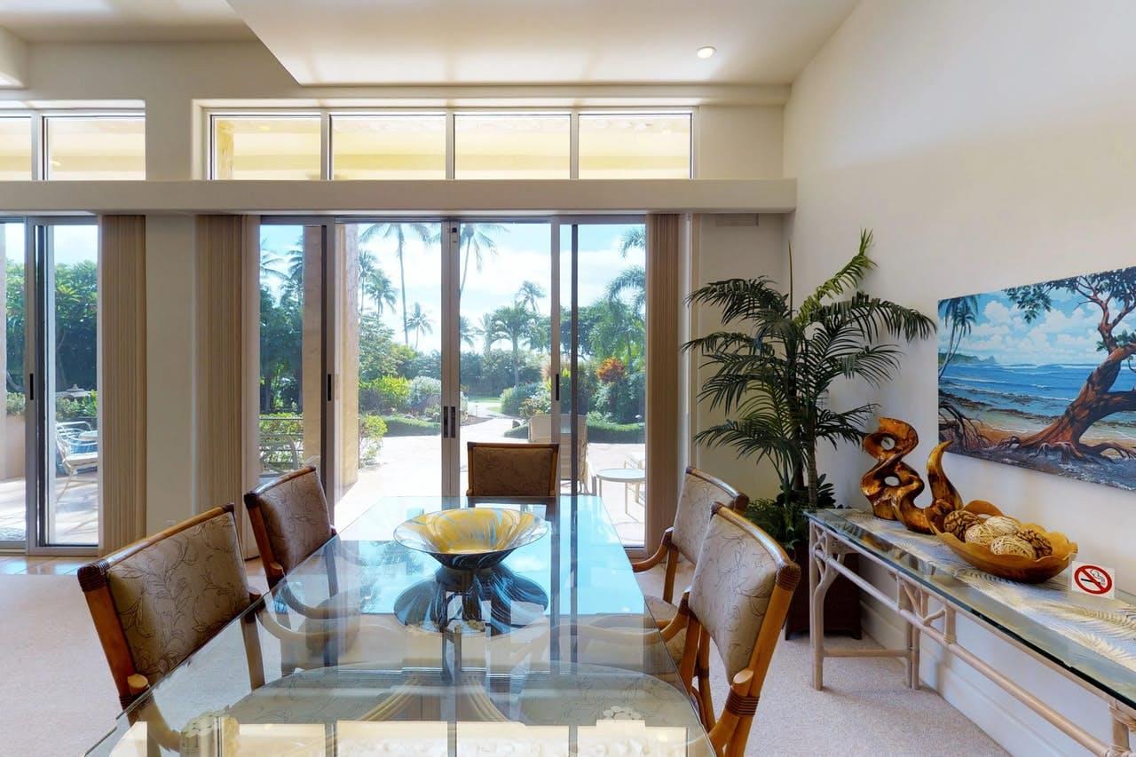 Light and airy interior of Maui Kaanapali Villas condo rental