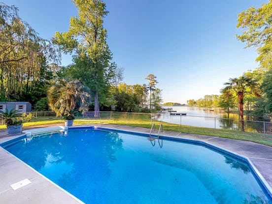 Lakefront vacation rental with a pool in South Carolina