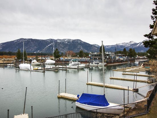 Tahoe Keys waterfront vacation rental with view of Marina